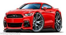 2015 Ford Mustang GT Coyote Cartoon Car Wall Poster Sticker Graphic Cling Room