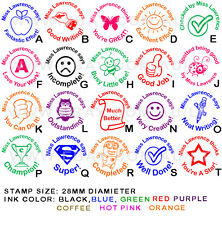 Personalised Custom Self Pre inking Teacher School Student Comments Stamp Round