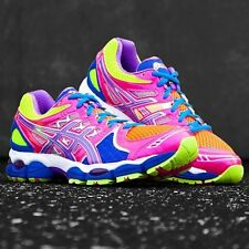 ASICS GEL-NIMBUS 14 WOMENS RUNNING SHOES LITE BRIGHT/ GRAPE/PINK