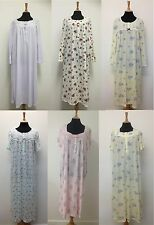 Ex M&S Marks & Spencer Long Women Floral Long Sleeve Nightdress Size 8 - 24