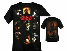 SLIPKNOT Band Masks Collage heavy metal rock dbl printed T-Shirt  M L NWT