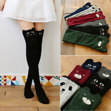 New Arrival Women Lovely 3D Cartoon Thigh Stockings Over Knee High Cotton Socks