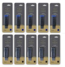 15 X Parker Quink Ink Cartridges Blue / Black for Fountain Pens Refill Refills