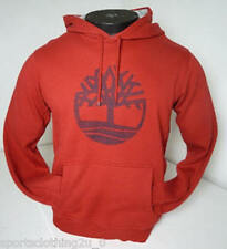 TIMBERLAND Graphic Hooded Sweat Hoodie Men Red