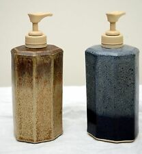 """Made-in-the-USA 7"""" Octagonal Stoneware Soap Dispenser by Stegall's"""