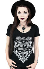 BITCHCRAFT V-Neck Womens Top by Restyle Clothing. Goth, Wiccan, Rock, Steampunk
