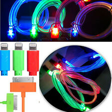 1M LED Light Up Data Sync Cable for Samsung Android Cellphones Hot Sale