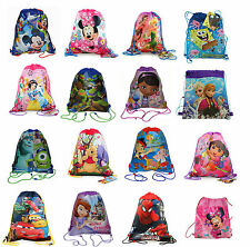 Disney Kids Sling Tote Drawstring Backpack Sport Treat Bag for Girls n Boys NEW