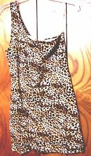 Sz S,M,L - NWT Love Culture One Shoulder Animal Cheetah Print Stretch Dress