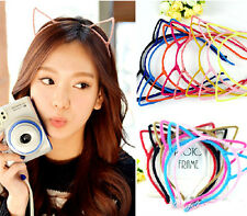 Fashion Women Girls Cute lovely Cat Ears Simple Headband Hair Head Band JW178