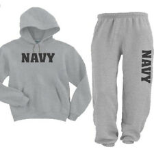 US United States Navy Hooded Sweatsuit Hoodie And Sweat Pants With Pockets