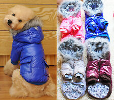 CHEAP~Thicken Pet Dog Winter Warm Down Hooded Padded Coat Cloth Clothing Apparel