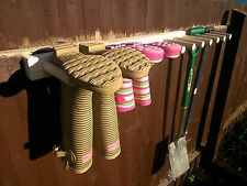 Wall mounted Welly Rack Wellington Riding Boot garden tool rack 1 - 10 Pairs