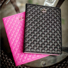 Girl Lady Smart Magnetic Crown Leather Case Cover for iPad 6 5 4 3 2 Air mini 3