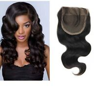 Lace Top Closure Invisible Part 100% Brazilian Human Hair Weave Extension