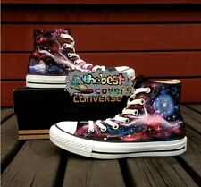 CONVERSE Chuck Taylor All Star GALAXY themes science hand painted shoes*