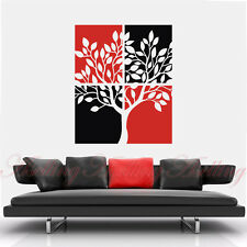 2 Colors DIY Hollow Tree Art Vinyl Wall Stickers Home Decor Room Decal Removable