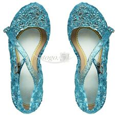 New Blue Princess Cosplay Jelly Sandal Shoes Girls Kid Party Fancy Dress Up Gift