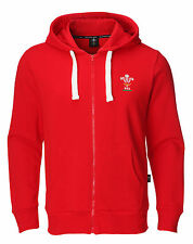 Genuine OFFICIAL Wales WRU Official Mens Full Zip Hoody Hoodie Welsh