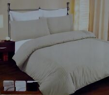 QUEEN SIZE 3 Pce Pintuck Style Quilt / Doona Cover Set 250TC 4 Colours NEW