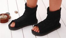 Naruto Leaf Village Ninja Black Cosplay Shoes Sandals Boots Costume