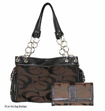 Signature Concealed Canvas Chain Carry Purse with Matching Wallet CCW by Cleto