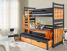 Sambor Children Triple Bunk Bed made of Quality Pine Wood
