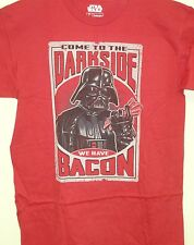 Star Wars Men's New Licensed (Darth Come to the Dark Side We have Bacon) T-shirt