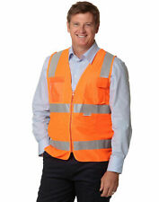 Hi Vis Zip Safety Vest | ID Pockets & 3M Tapes | Yellow Orange | Size S - 5XL