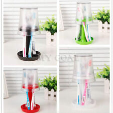 Lamp Toothbrush Holder Bathroom Toothpaste Stand Cap Set Storage Stuff Organizer
