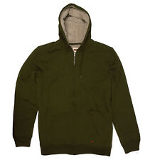 New Levi's Men's Sherpa-Lined Full-Zip Hoodie Jacket Olive Size 2XL, XXL