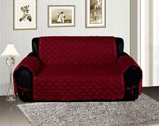 Burgundy Quilted Micro Suede Pet Dog Sofa Furniture Cover Protector Throw