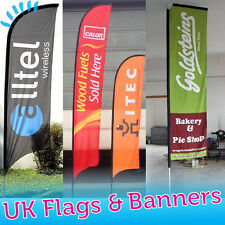 *Custom BRANDED 3.84m Feather Flag - Flying Banner - Outdoor Advertising Sign**
