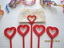 "Floral Picks HEART, BUTTERFLY, STAR 12"" Pink, Red, Orange, Card Holders 25/Pk!"