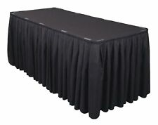21 ft Heavy Polyester Table Skirt Banquet Round Table Skirting 3 Colors Made USA