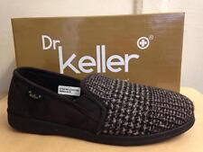 New Mens Dr Keller Rockwell Comfort Slippers Brown Tweed Size 6 7 8 9 10 11