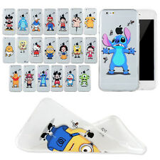 New Cute Cartoon TPU soft Clear back Case cover For iPhone4 4S 5 5S 6 6 plus
