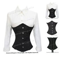#HC8019 100% Full Steel Boned Heavy Lacing Pinstripe Underbust Shaper Corset