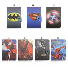 "Folding Flip Super Hero Cute Cartoon Leather Case Cover For 7"" Various Tablet PC"