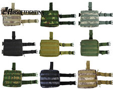 1X Molle Airsoft Tactical Hunting Army Drop Leg Panel Utility Thigh Pouch Bag