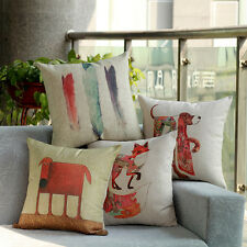 45cm*45cm Cotton Linen Flax Cushion Covers Colorful Pillow Case For Sofa Bed