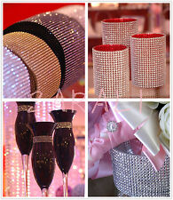 24 Rows Rhinestone Looking Diamond Mesh Wedding Party Centerpiece or Cake Decor