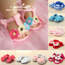9-Color Baby Girl Kids Flower Sandals Infant Handmade Crochet Knit Toddler Shoes