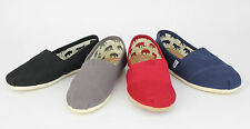 Toms Men's Classics Canvas Slip On Red/Black/Navy/Ash