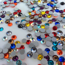 MIXED COLORS Flatback Rhinestones Crystal Glass Non Hotfix Chatons Nail Art