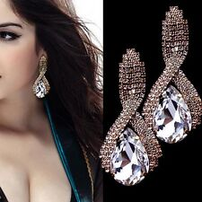 New Crystal Rhinestone Ear Stud Studs Earrings Womens Dangle Eardrop Earring