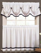 Kate Kitchen Curtains - Black & White - BRAND NEW in package