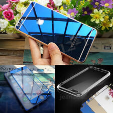 Front+ Back Mirror Effect Tempered Glass Screen Protector+Free Case Cover #UK