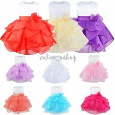 Flower Girl Princess Dress Kids Party Pageant Wedding Bridesmaid Tutu Dress 3-10