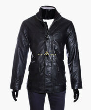 Collin Black Men's Smart Vintage Classic Style Real Soft Lambskin Leather Jacket